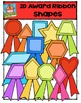2D Award Ribbon Shapes {P4 Clips Trioriginals Digital Clip Art}