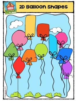2D Balloon Shapes {P4 Clips Trioriginals Digital Clip Art}