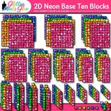 2D Base Ten Blocks Clip Art: Counting Graphics 2 {Glitter Meets Glue}