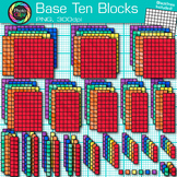 2D Base Ten Blocks Clip Art {Counting and Measurement Tools for Math}