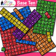 2D Base Ten Blocks Clip Art   Counting and Measurement Tools for Math