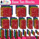 2D Base Ten Blocks Clip Art {Counting and Measurement Tool