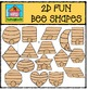 2D FUN Bee Shapes {P4 Clips Trioriginals Digital Clip Art}