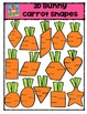 2D Bunny Carrot Shapes {P4 Clips Trioriginals Digital Clip Art}
