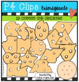 2D FUN Cheese and Cracker Shapes {P4 Clips Trioriginals Digital Clip Art}