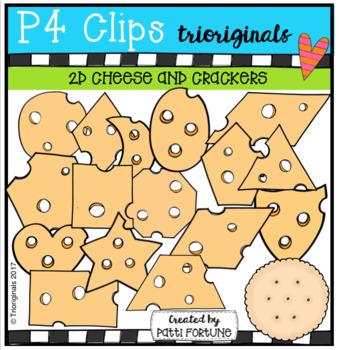 2D Cheese and Cracker Shapes {P4 Clips Trioriginals Digita
