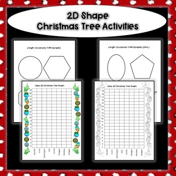 2D Christmas Tree Activities