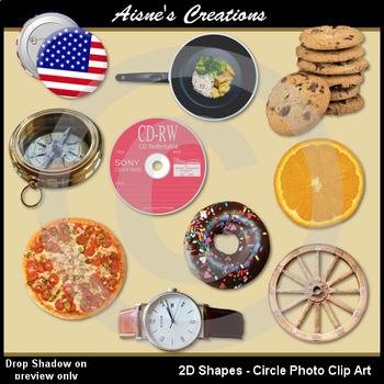 2D Circle Shapes Real Photo Clip Art