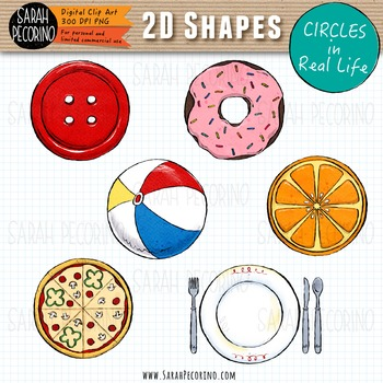 2D Circles in Real Life Clip Art