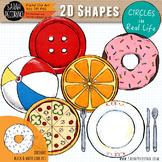 2D Circles in Real Life Clip Art
