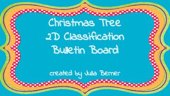 2D Classification Christmas Tree Bulletin Board Printouts