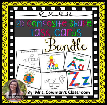 2D Composite Shape Task Card Bundle
