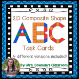 2D Composite Shapes: ABC Pattern Block Task Cards