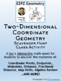2D Coordinate Geometry & Distance Formula Scavenger Hunt