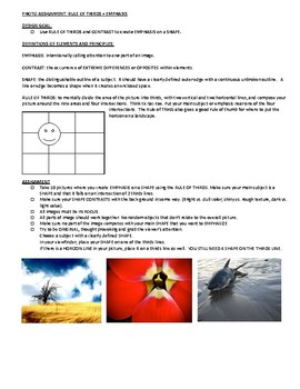 2D Design/Digital Photography: Rule of Thirds