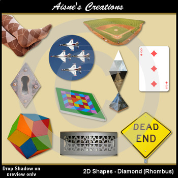 2D Diamond Shapes Real Photo Clip Art