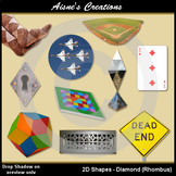 2D Diamond Shapes Real Photo Clip Art