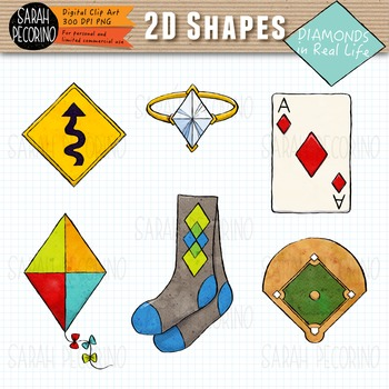2D Diamonds in Real Life Clip Art