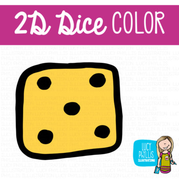 2D Dice Clip Art (Lucy Phyllis Illustrations)