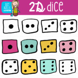 2D Dice Clip Art (Lucy Phyllis Illustrations)