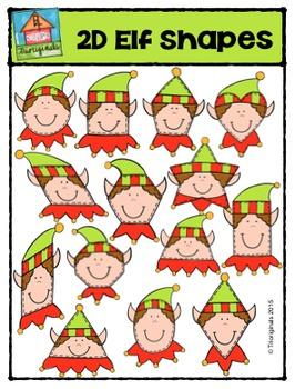 2D Elf Shapes  {P4 Clips Trioriginals Digital Clip Art}