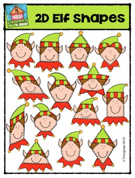 2D Elf Shapes  {P4 Clips Trioriginals Digital Clip Art}