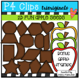 2D FUN Apple Seed Shapes (P4 Clips Trioriginals)