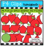 2D FUN Apple Shapes (No Faces) P4 Clips Trioriginals