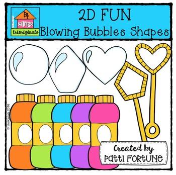 2D FUN Bubble Blowers Shapes {P4 Clips Trioriginals Digital Clip Art}