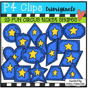 2D FUN Circus Ticket Shapes (P4 Clips Trioriginals)