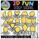 2D FUN Doodle Daisy Shapes (P4 Clips Trioriginals) SHAPE CLIPART