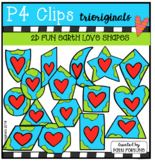 2D FUN Earth Day LOVE Shapes (P4 Clips Trioriginals)