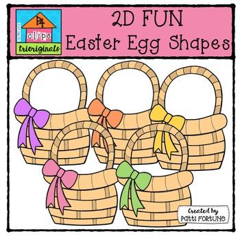 2D FUN Easter Egg Shapes {P4 Clips Trioriginals Digital Clipart}