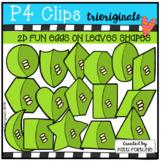 2D FUN Eggs on a Leaf Shapes (P4 Clips Trioriginals)