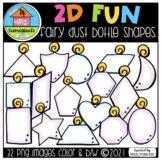 2D FUN Fairy Dust Shapes (P4 Clips Trioriginals) SHAPE CLIPART