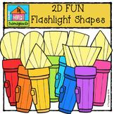 2D FUN Flashlight Shapes {P4 Clips Trioriginals Digital Clip Art}