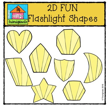 2D FUN Flashlight Shapes {P4 Clips Trioriginals Digital Clip Art}
