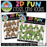2D FUN Frog and Toadstool Shapes (P4 Clips Trioriginals) M