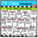 2D FUN Kitten Shapes (P4 Clips Trioriginals)