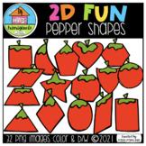 2D FUN Pepper Shapes (P4 Clips Trioriginals) SHAPE CLIPART