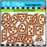 2D FUN Pizza Shapes (P4 Clips Trioriginals)