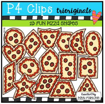 2D FUN Pizza Shapes (P4 Clips Trioriginals)