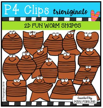 2D FUN Worm Shapes (P4 Clips Trioriginals)