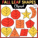 2D Fall Leaf Shapes Clipart