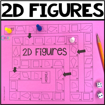 Identify Shapes: 2D Figures (Classifying Quadrilaterals) Math Board Game