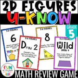 2D Figures Game: U-Know | Geometry Activity Review {5th Gr