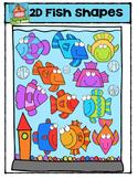 2D Fish Shapes (Fishapes) {P4 Clips Trioriginals Digital Clip Art}