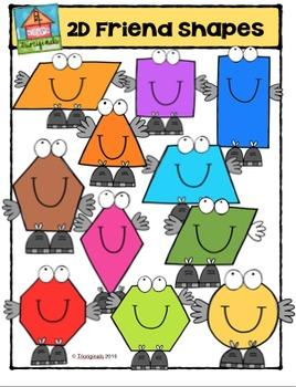 2D Friend Shapes {P4 Clips Trioriginals Digital Clip Art}