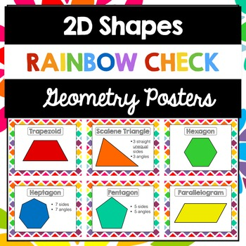 Geometry 2D Shapes Posters Rainbow Check