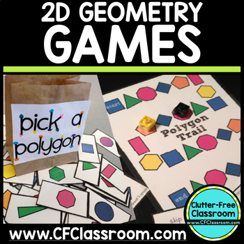 2D Geometry 2 Game Packet: Common Core 3.G.1, 2.G.1, 1.G.1, 1.G.2 Shapes